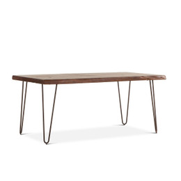 live wood edge dining table