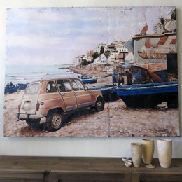 renault beach wall painting