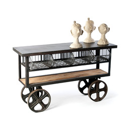 Rolling Industrial Console