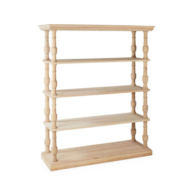 white oak finish bookcase