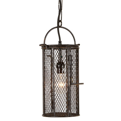 metal cage pendant light
