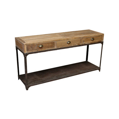wood and iron sideboard