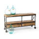 Rolling Reclaimed Wood Sideboard