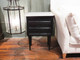 wood and marble side table