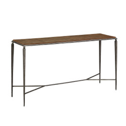 reclaimed wood metal console table