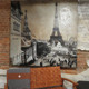 vintage Paris oil painting