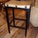 Wood Block Bar Stool