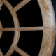 Round Oak Wood Mirror