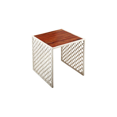 iron screen side table