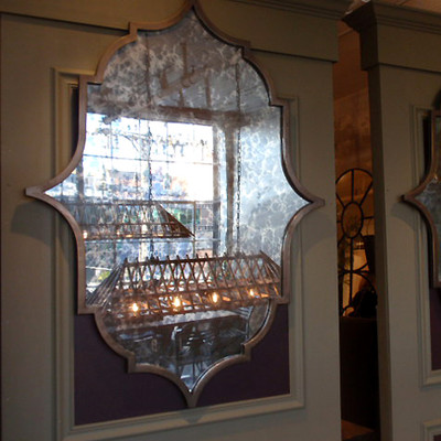 Antiqued Iron Mirror