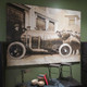 vintage car oil painting