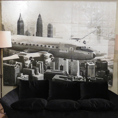 airplane oil painting