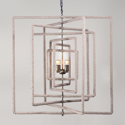 square rope chandelier