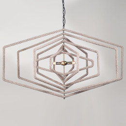 hexagon rope chandelier