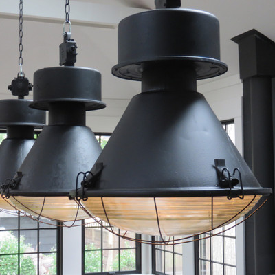 vintage industrial warehouse pendant