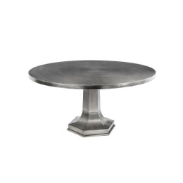 round iron pedestal table
