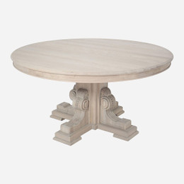 white oak pedestal dining table