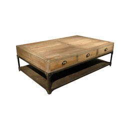 Wood and Iron Coffee Table