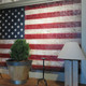 American flag oil painting