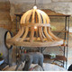 Vintage Reclaimed Wood Chandelier
