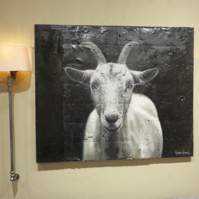 billy goat oil painting