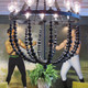 black metal bead chandelier