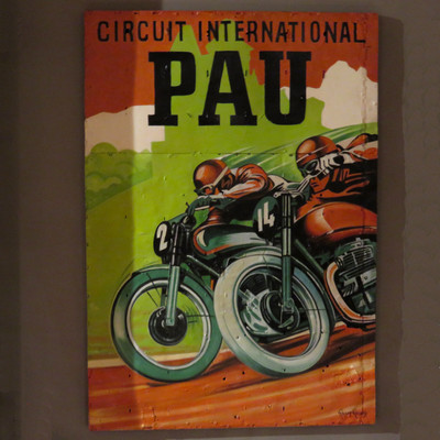 motorcycle oil painting