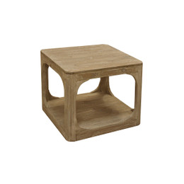 washed pine side table
