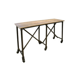 iron and wood console table
