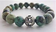 African Turquoise Wrist Mala Bracelet