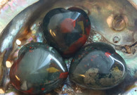 African Bloodstone Gemstone Heart