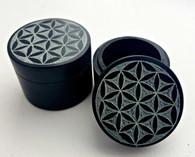 Flower of Life Black Soapstone Box