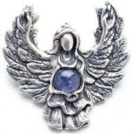 Iolite Guardian Angel Pendant