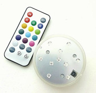 Bright LED Submersible Disc Light with Remote