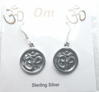 OM Sterling Silver Earrings