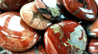 Red Silver Leaf Jasper Disc