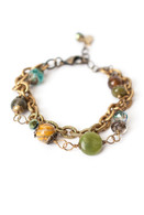"Crisp Autumn 7.5-8.5"" Chunky Multi-strand Bracelet"