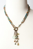 "Crisp Autumn 19"" or 35.5"" Convertible Tassel Necklace"