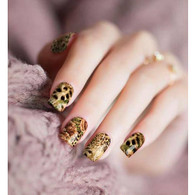 Cheetah Flowers Nail Polish Stickers by Candied Nails