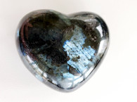 Larvakite Gemstone Heart