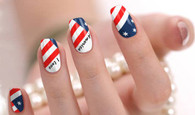 United States Nail Polish Stickers by Candied Nails