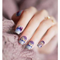 Marble Wood Nail Polish Stickers by Candied Nails