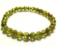 Peridot Gemstone Stretch Bracelet