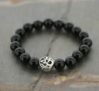 """OM"" Black Onyx Bracelet"