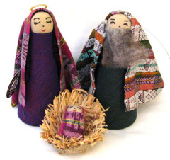 Fair Trade Cotton Holy Family Nativity Set from Guatemala