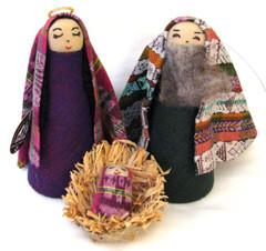 Fair Trade Cotton Holy Family Nativity Set from Guatemala