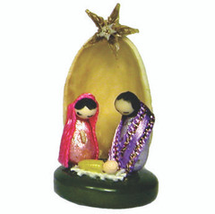Fair Trade Pistachio Nut Nativity from Ecuador