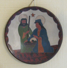 Fair Trade Volcanic Clay Holy Family Plate from Nicaragua