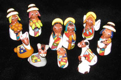 Fair Trade Ceramic Nativity from Bolivia