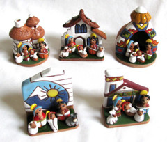 Fair Trade Ceramic Nativity Scene from Bolivia